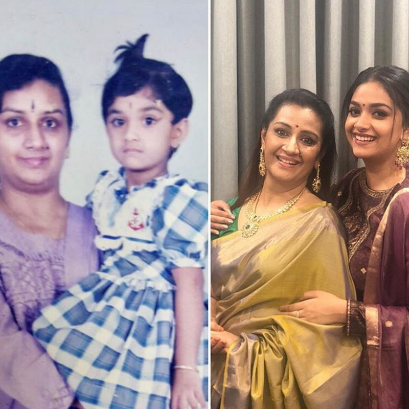 Keerthy-suresh-with-her-mother