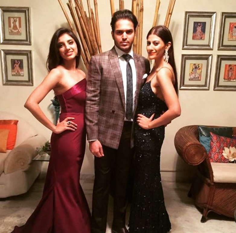 Miheeka-bajaj-with-her-brother-and-sister-in-law